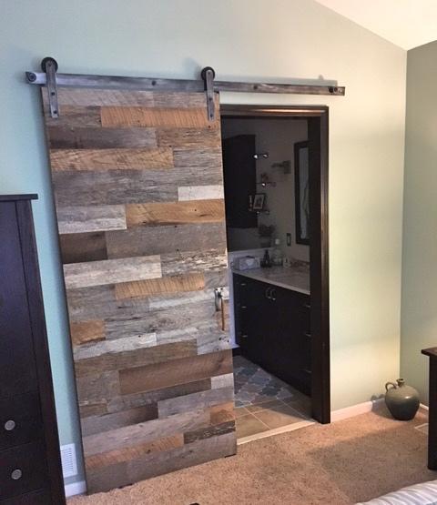 Reclaimed Wood Barn Door Stow Oh Quality Design Renovations Llc